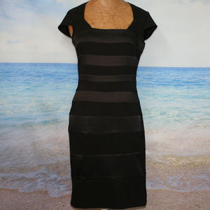 SANGRIA Black Bandage Bodycon Fitted Dress